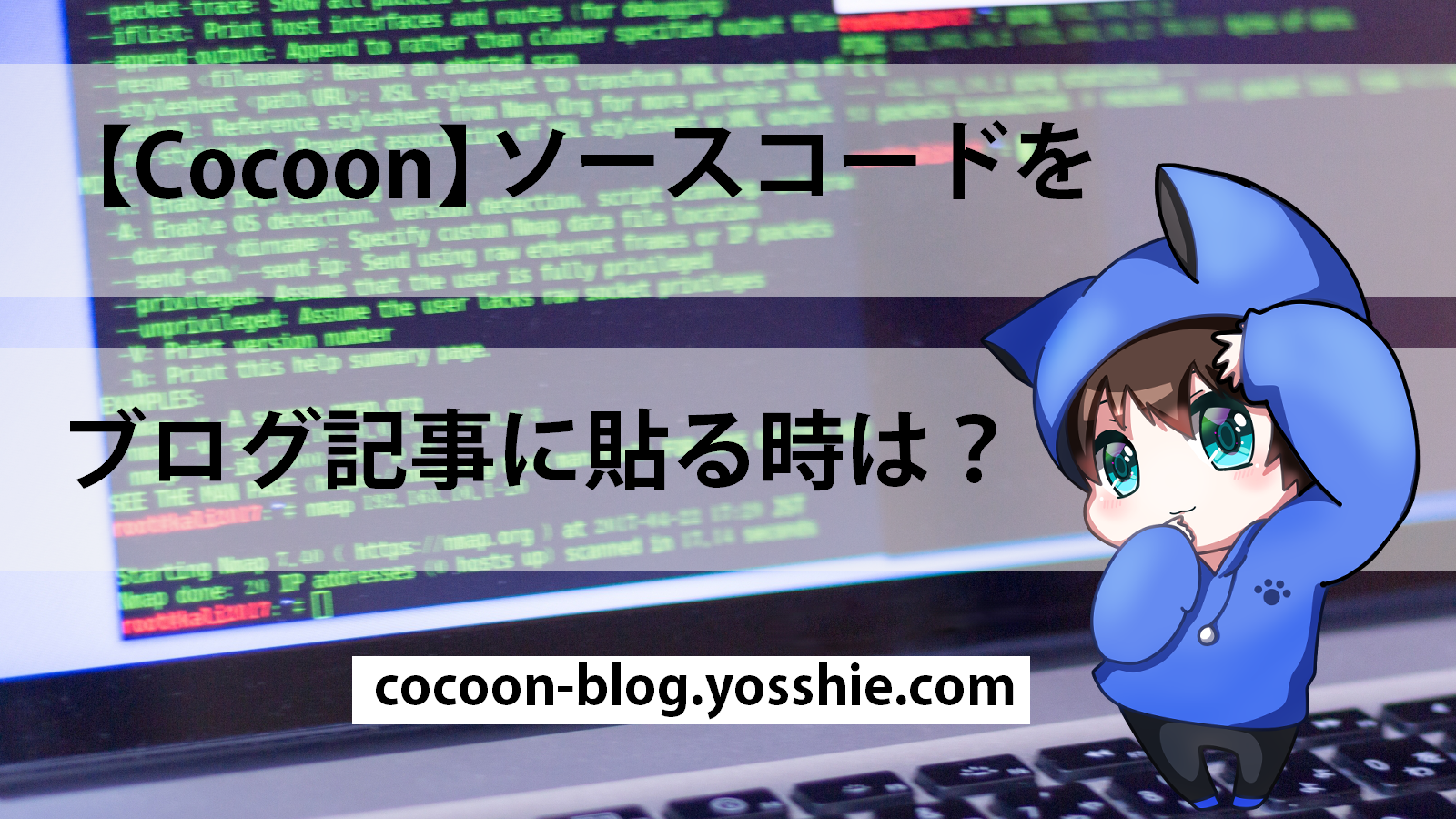 Cocoonでソースコードを貼る方法